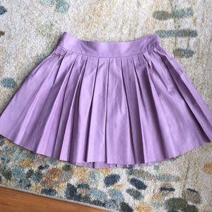 Alice + Olivia 100% Genuine Lamb Leather Skirt